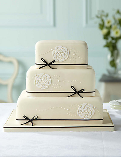 Black Ivory Chocolate Wedding Cake Available To Order Until 31st J
