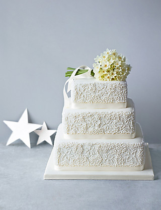 Lace Sponge Wedding Cake Cakes