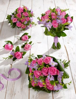 Pink Lilac Rose Freesia Wedding Flowers Collection 2 MS