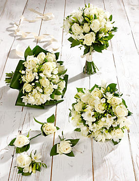 White Rose & Freesia Wedding Flowers - Collection 2