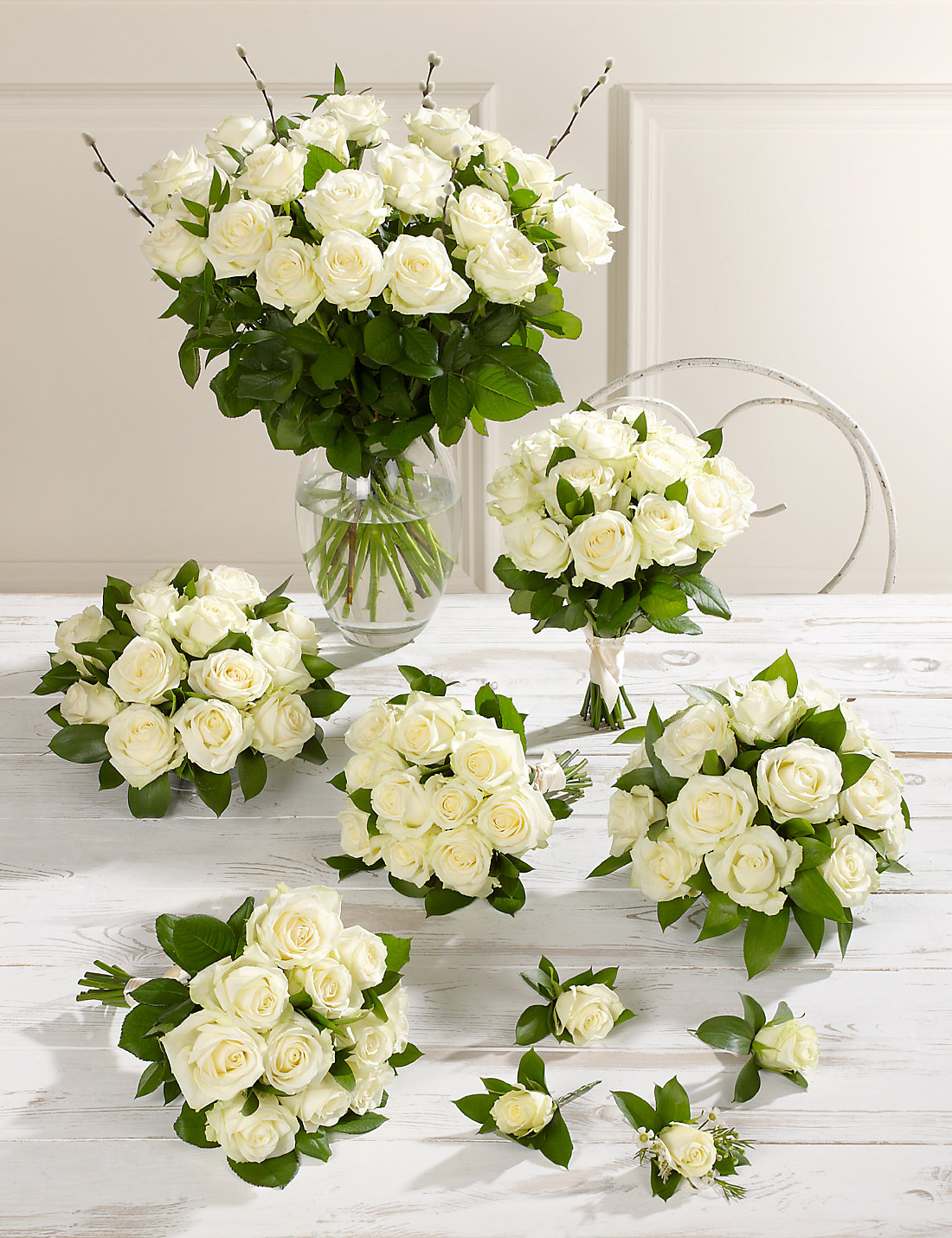 creamywhite luxury rose wedding flowers  collection   ms, Beautiful flower