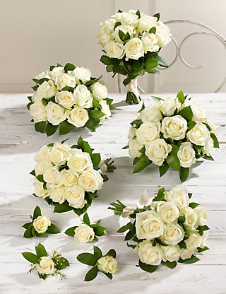 Creamy-white Luxury Rose Wedding Flowers - Collection 3 Food