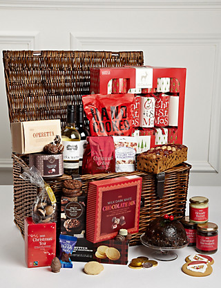 Family Christmas Hamper with Crackers Hampers