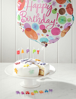 Birthday Cake, Candles & Balloon Hampers