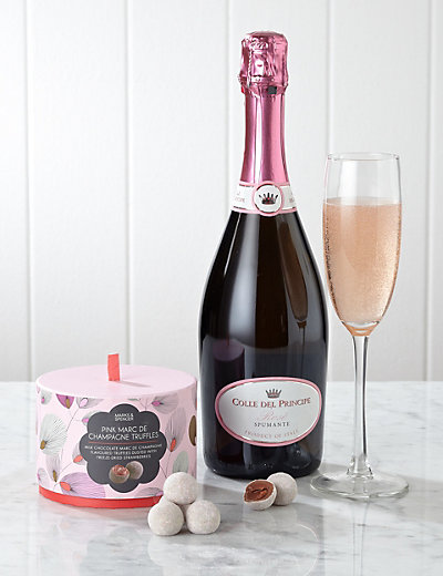 Rose Bubbles & Pink Marc de Champagne Truffles Hampers