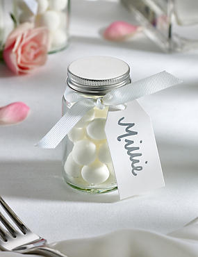 Mint Imperials Wedding Favours with White Ribbon - Pack of 25