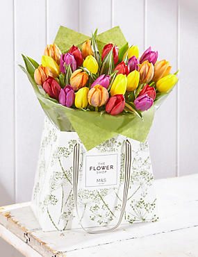 Spring Tulip Gift Bag - Large