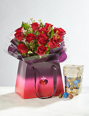 Be Mine Rose Gift Bag Free Chocolates (Pre-Order)