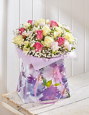 Mother's Day Rose & Freesia Gift Bag (Pre Order)