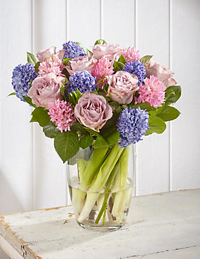 Mother's Day Rose & Hyacinth Bouquet (Pre Order)
