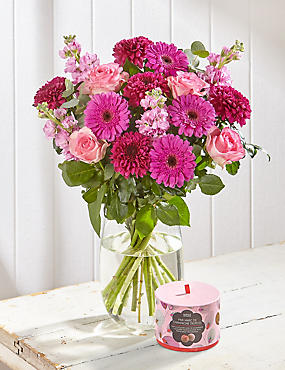 Free Chocolates with Mother's Day Large Flower Bouquet (Pre Order)