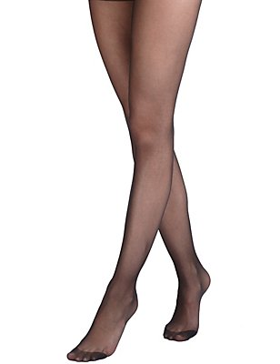 5 Pair Pack 15 Denier Ladder Resist Matt Tights, BLACK, catlanding