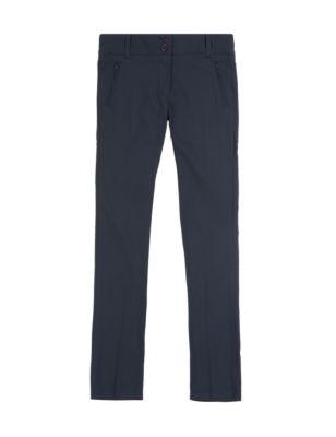 Школьные брюки с карманами на молнии с регулируемым поясом и манжетами и технологиями Crease Resistant и Stormwear™
