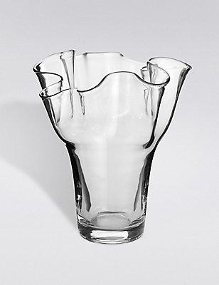 Handkerchief Clear Vase, CLEAR, catlanding