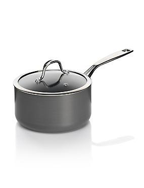 Chef Hard Anodised 18cm Saucepan, , catlanding