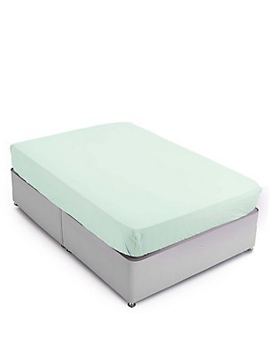 Stay Cool Tencel Deep Fitted Sheet, DUCK EGG, catlanding