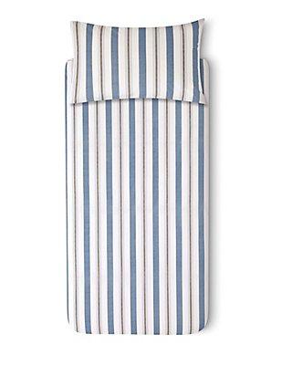 Striped Bedding Set, BLUE MIX, catlanding