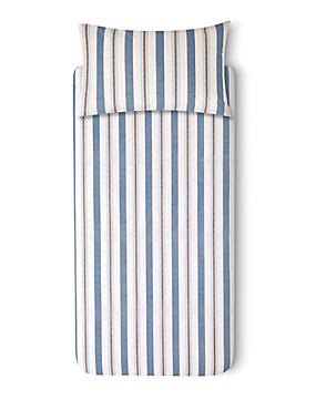 Striped Bedset, BLUE MIX, catlanding