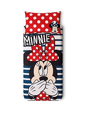 Minnie Mouse Bedding Set, NAVY MIX, catlanding
