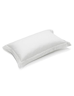 Luxury Supima® Cotton Sateen Oxford Pillowcase, WHITE, catlanding