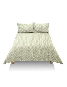 Riley Geometric Print Bedset, GREEN MIX, catlanding