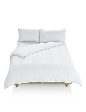 Waffle Striped Bedset, WHITE, catlanding