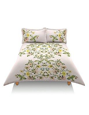 Dovecote Floral Print Bedding Set, LIGHT PINK MIX, catlanding