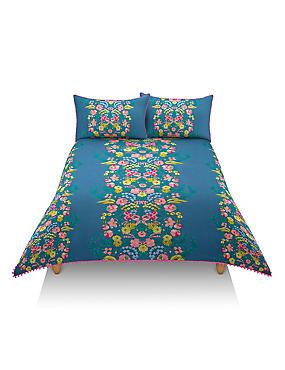 Frida - Beddengoedset met bloemmotief, MULTI/FEL, catlanding