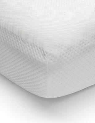 4.5cm Contour Cut Memory Foam Topper, WHITE, catlanding