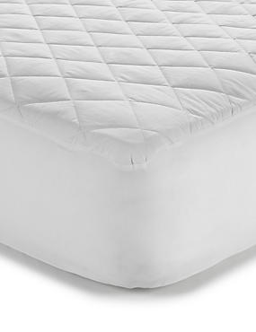 Supremely Washable Mattress Protector, WHITE, catlanding