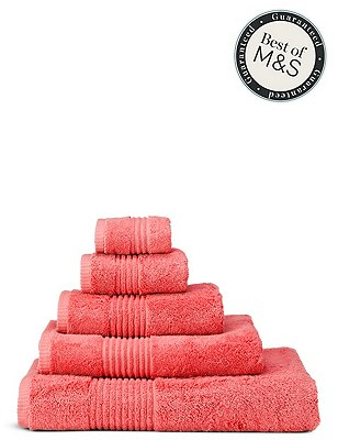 Luxury Egyptian Towel, SOFT CORAL, catlanding