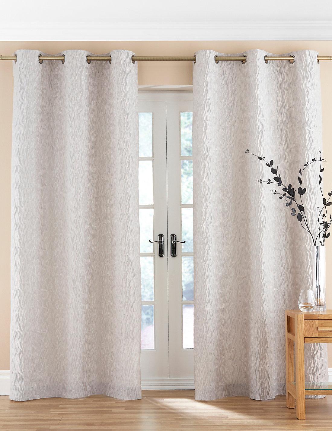 Organic Wave Design Eyelet Curtains