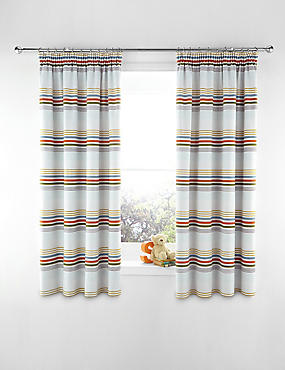 Bold Striped Curtains, MULTI, catlanding