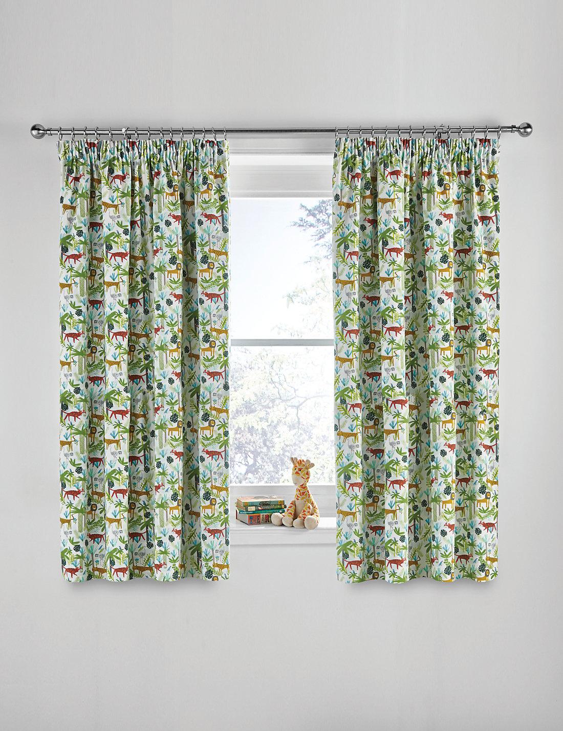 Superb Jungle Print Curtains