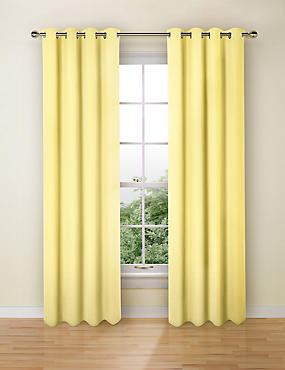 Pure Cotton Curtains, YELLOW, catlanding