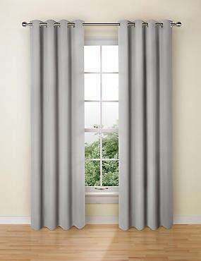 Pure Cotton Curtains, GREY, catlanding