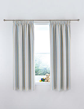 Sketch Pattern Curtains, MULTI, catlanding