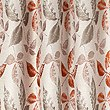 Leaf Jacquard Eyelet Curtain, TERRACOTTA MIX, swatch