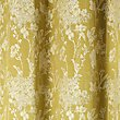 Floral Jacquard Curtains, OCHRE, swatch