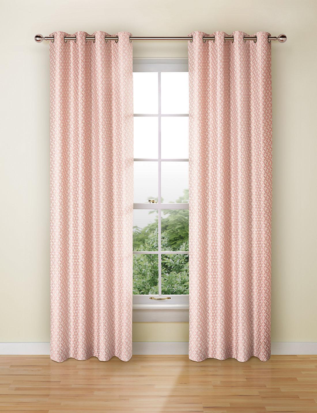 Pink Curtains Carla Diamante Blackout Ring Top Curtains Pink Exclusive Fabrics Pink Polka Dot