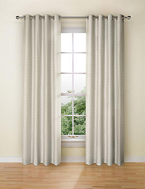 Isla Jacquard Curtains, GREY, catlanding