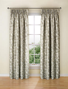 Albero Jacquard Curtains, NEUTRAL, catlanding
