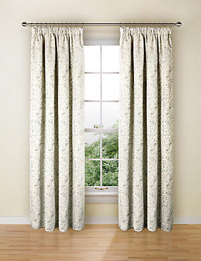 Trezo Damask Curtains, DUCK EGG, catlanding