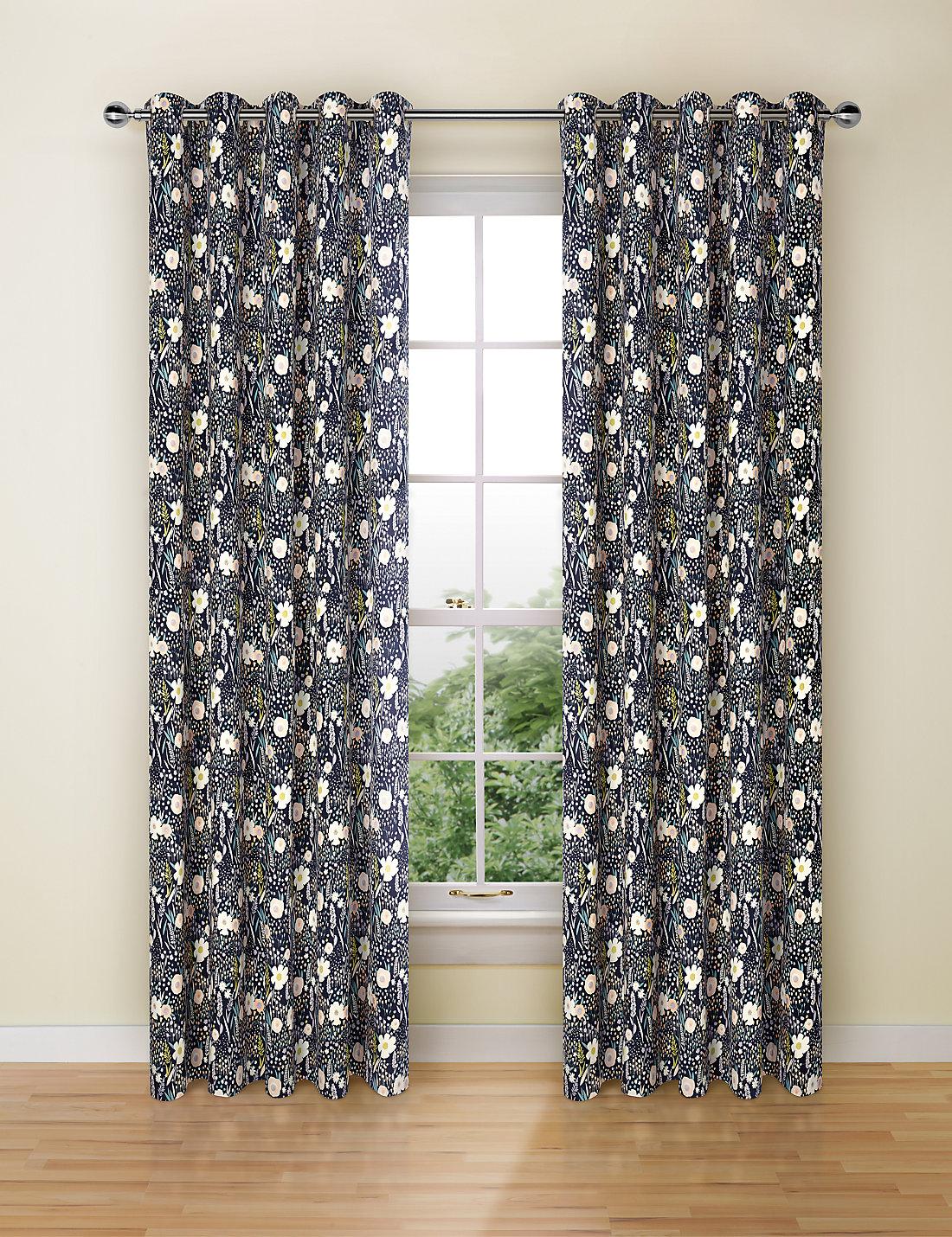 Fl Print Curtains