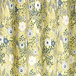 Floral Print Curtains, OCHRE, swatch