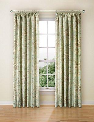 Versaille Print Curtain, DUCK EGG, catlanding