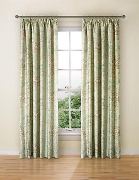 Versaille Print Curtain, DUCK EGG, catlanding