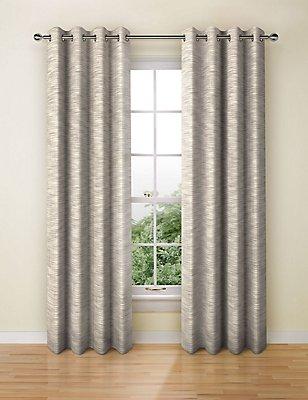 Navora Eyelet Curtain, MUSHROOM, catlanding