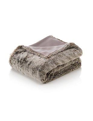 Faux Fur Throw, MOCHA, catlanding