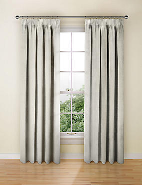 Stripe Pencil Pleat Curtain, GREY MIX, catlanding